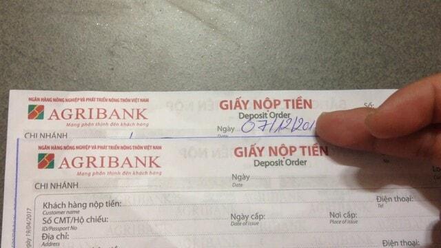 Ngày tháng năm thực hiện việc chuyển tiền cần ghi chính xác