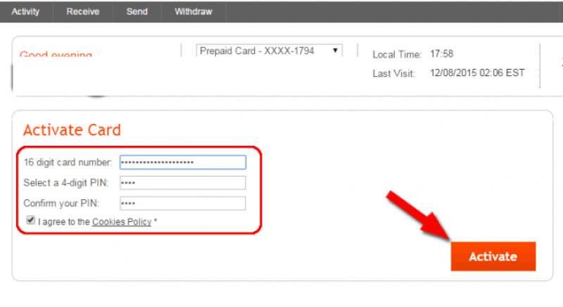 Bước 2: nhập số thẻ và số pin