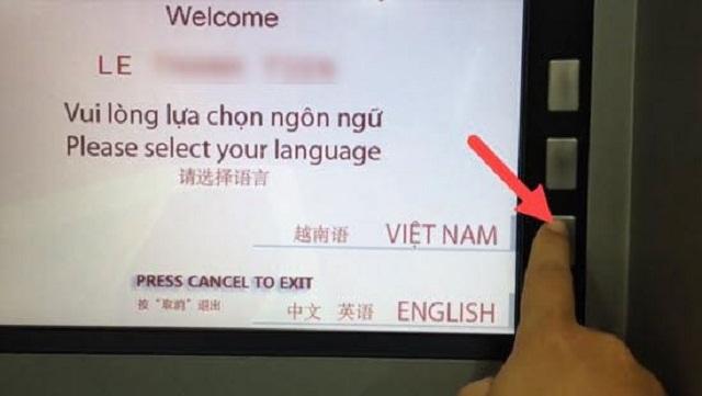 Lựa chọn ngôn ngữ tiếng Việt trên màn hình