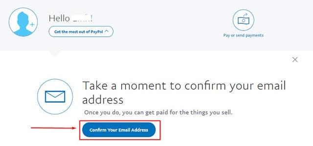 Cửa sổ khác mở ra, bạn click Confirm Your Email Address