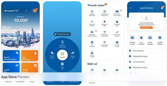 Kích hoạt thẻ ATM qua ứng dụngSacombank Pay