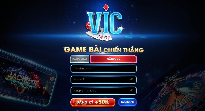 Đăng nhập hoặc đăng nhập trải nghiệm cổng game bài đổi thưởng vic
